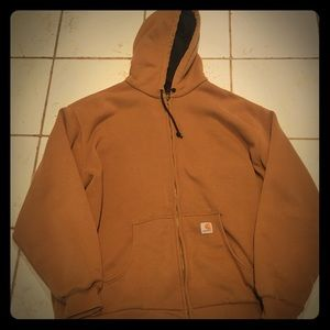 Carhartt zip up hooded jacket